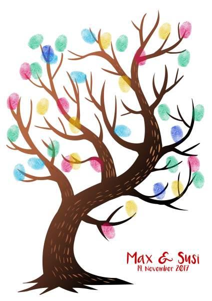 Fingerabdruckbaum dunkelbraun