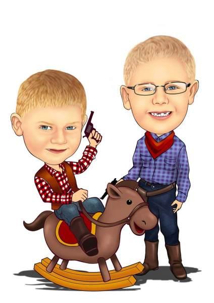 Kleine Cowboys