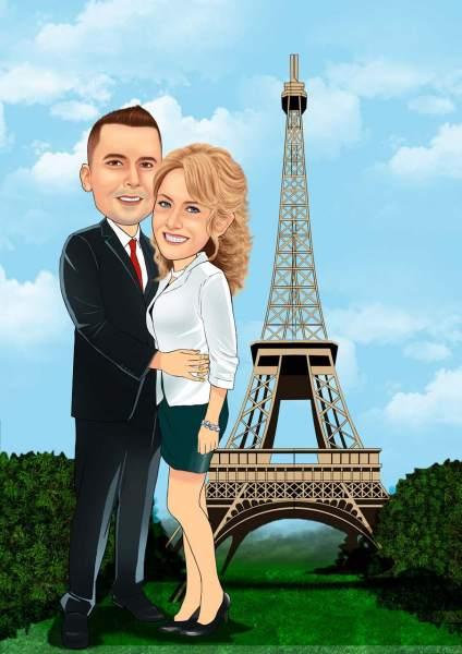 Paar in Paris