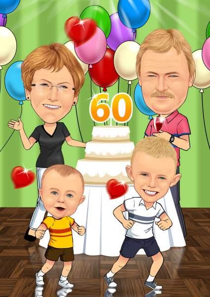 60. Geburtstag mit der 80