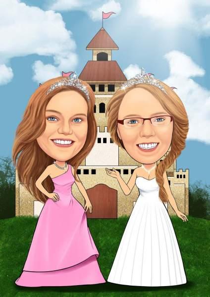 Zwei Prinzessinnen und ein Schloss