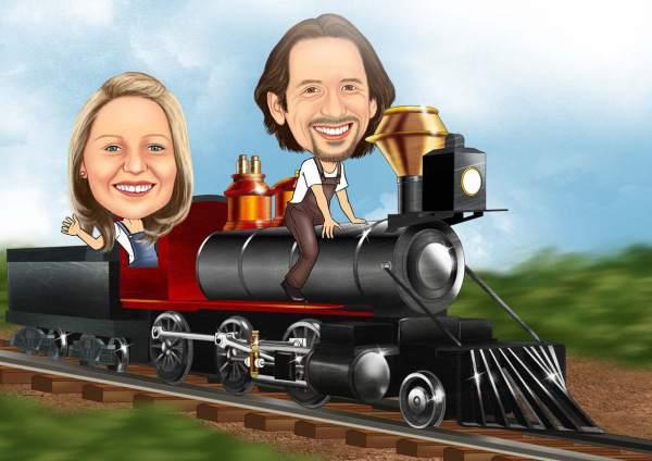 Personenzug-Lokomotive
