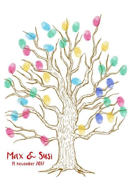 Baum für Fingerabdruck dünn