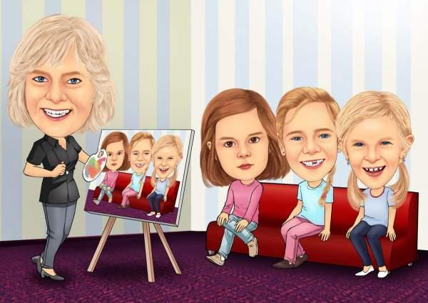 Portrait der Kinder