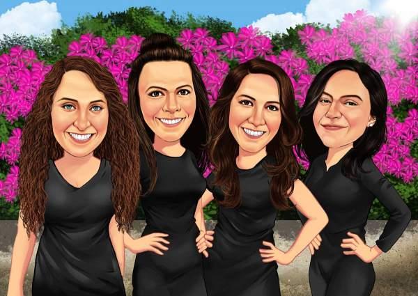 Vier beste Freundinnen