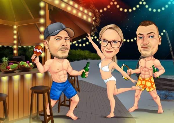 Party an der Strandbar