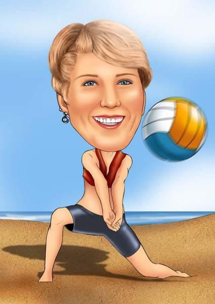 Volleyball Spielerin