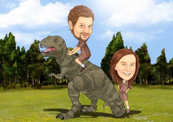 Stolze Paläontologen