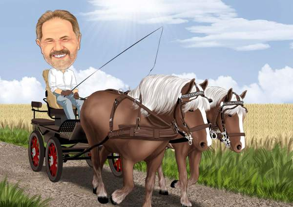 Eine Tour mit der Pferdekutsche