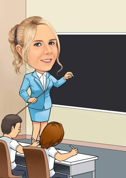 Eine tolle Lehrerin