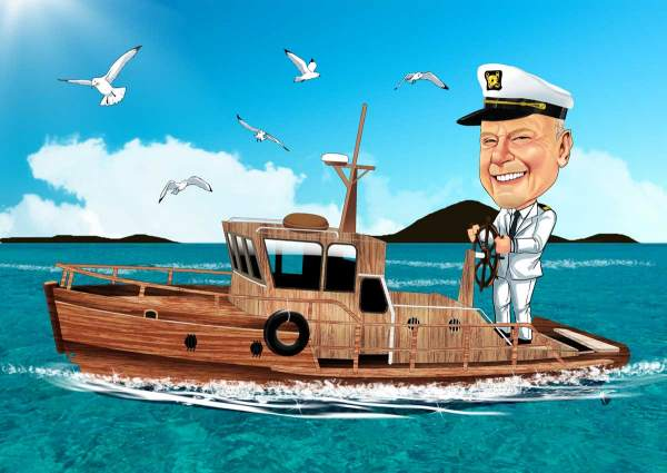 Der Captain mit dem Kutter