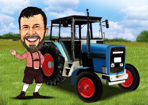 Der Bauer und sein Traktor