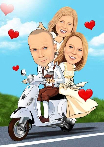 Verliebt auf dem Motorrad