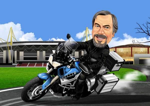 Mit dem Motorrad zum Stadion