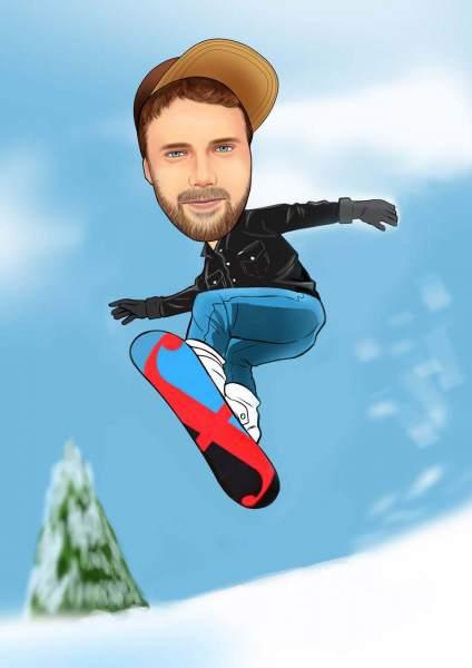 Der Snowboarder