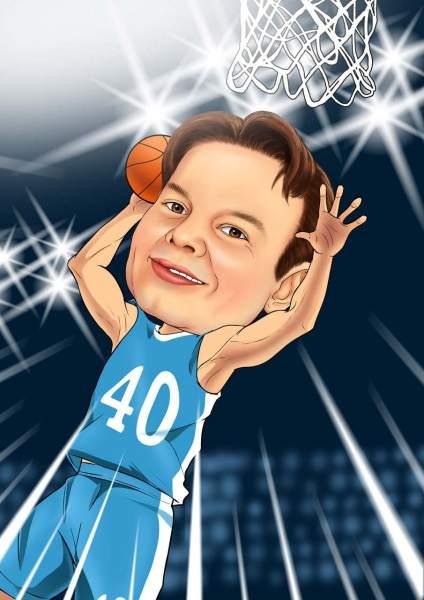 Basketball Spieler (im Rampenlicht)
