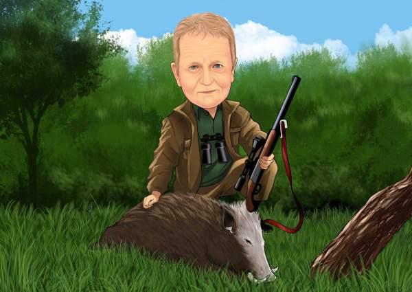 Auf der Jagd nach Wildschwein