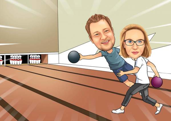 Bowling mit der Freundin