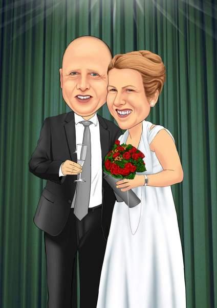 Ein Hoch auf das Hochzeitspaar