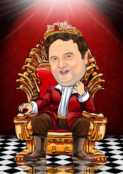 Der König auf seinem Thron