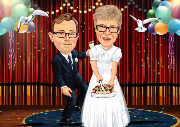 Traum Hochzeit mit einem Kuchen