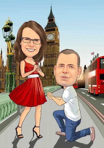 Hochzeitsantrag in London