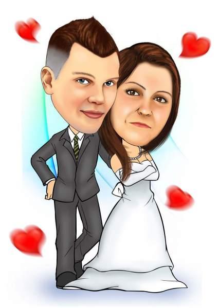 Liebevolles Brautpaar