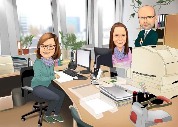Unser Büro und ihre Mitarbeiter