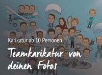 Teamkarikatur ab 10 Personen