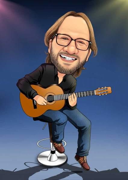 Mit der Gitarre