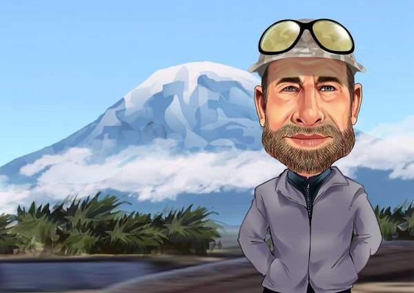 Vor dem Kilimandscharo