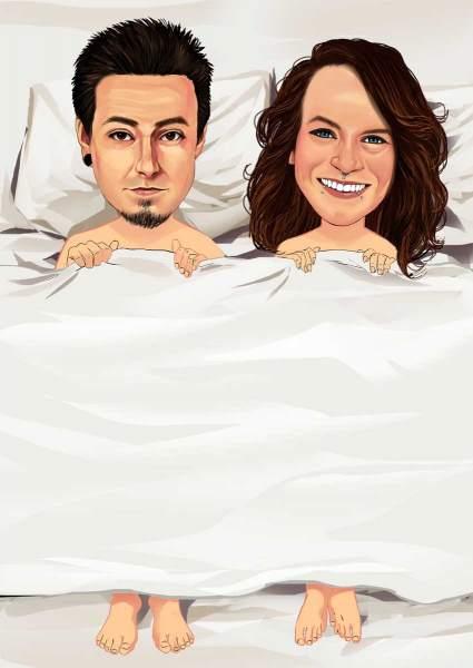Zu zweit im Bett
