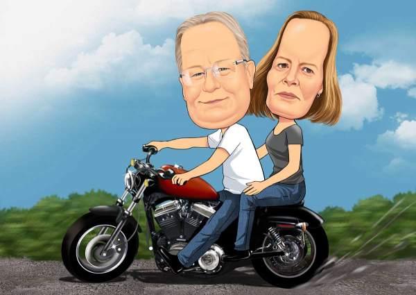 Auf unsere Motorrad