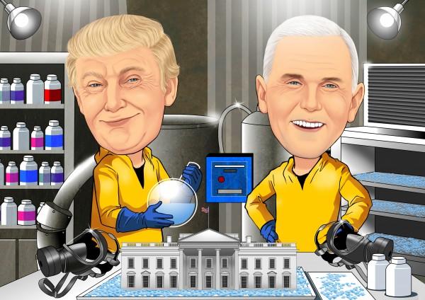 Donald-Trump-Karikatur