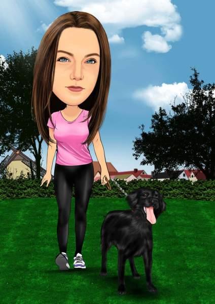 Gassi gehen mit dem Hund