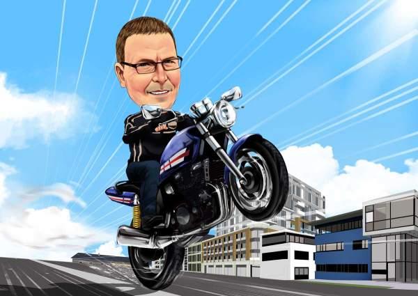 Stunt auf dem Motorrad