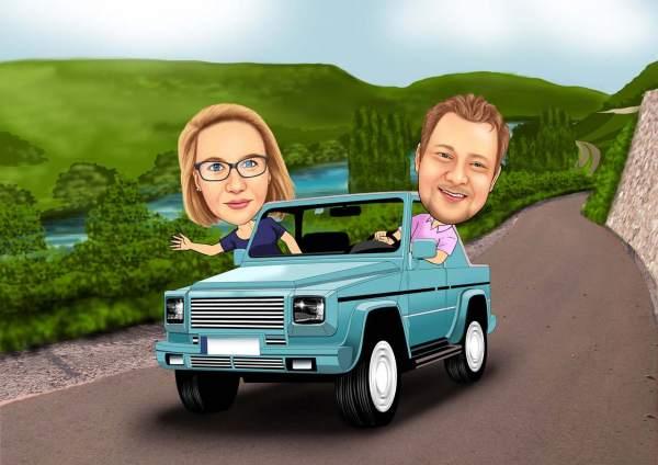 Spritztour im Jeep