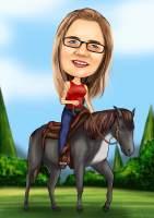 Sich vom Pferde tragen lassen