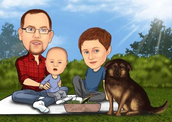Picknick mit der ganzen Familie