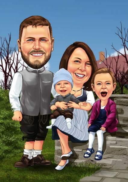 Lustige Familie