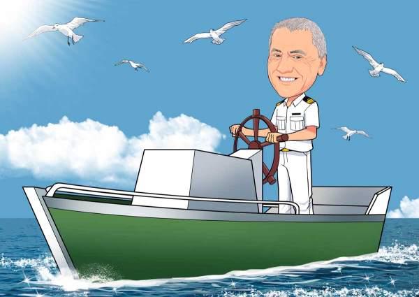 Der Captain mit seinem Boot