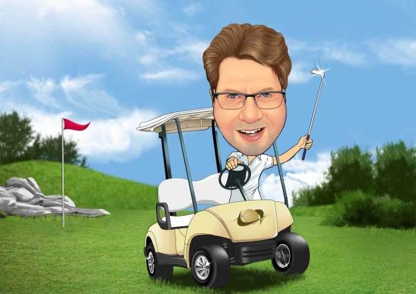 Auf großer Golf Tour