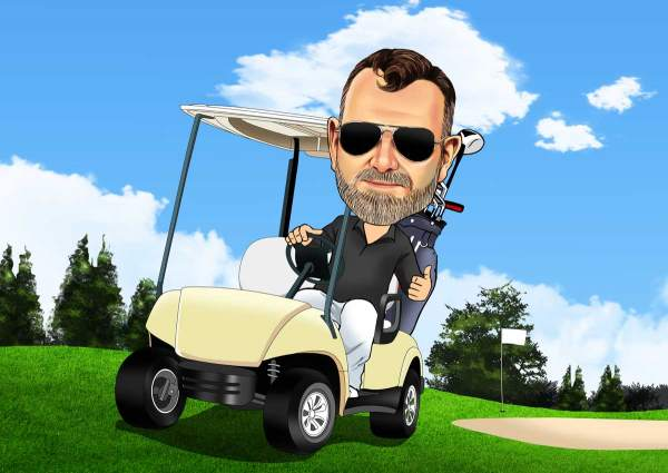 Mit dem Golf Kart unterwegs
