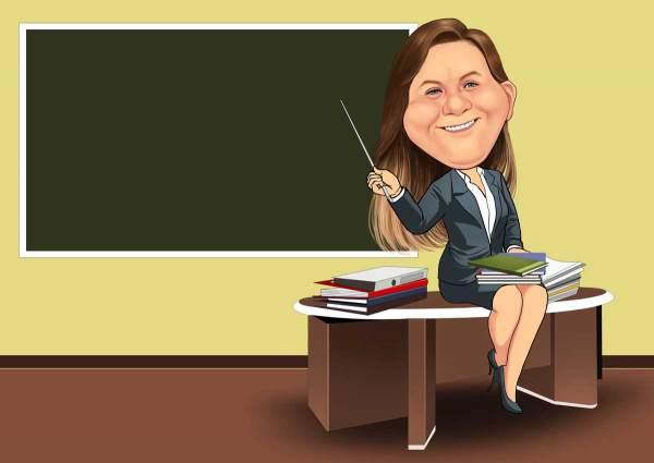Die Lehrerin erklärt