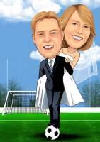Fußball Braut