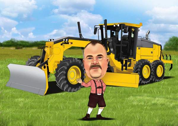 Der Bauer und seine Maschinen
