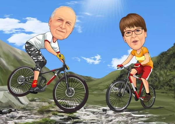 Mountainbike zu zweit